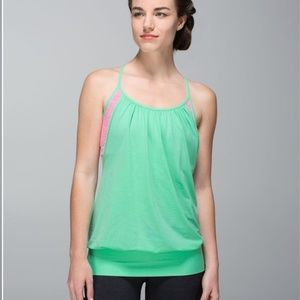 Lululemon No Limits Tank Top Mint/Pink Size 4